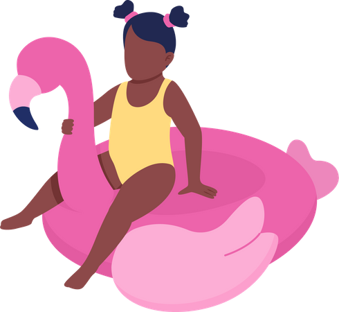 Inflatable swim float for toddler Illustration