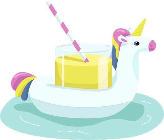 Inflatable unicorn Illustration