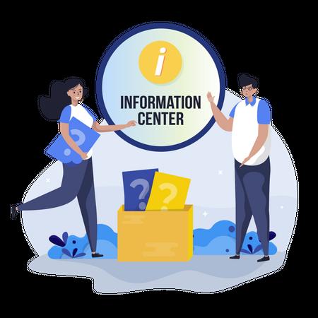 Information center Illustration