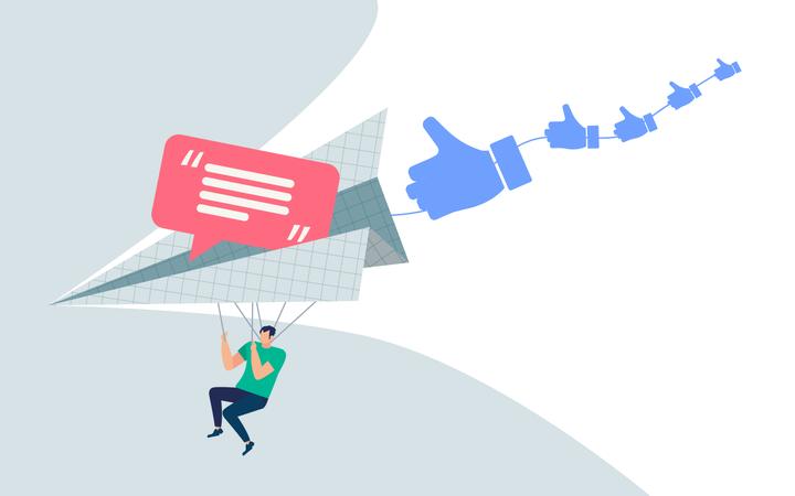 Informative banner hotkeys and messages Illustration