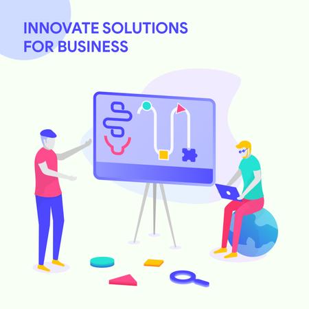 Innovate Solution For Business Illustration