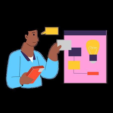Innovative idea management Illustration