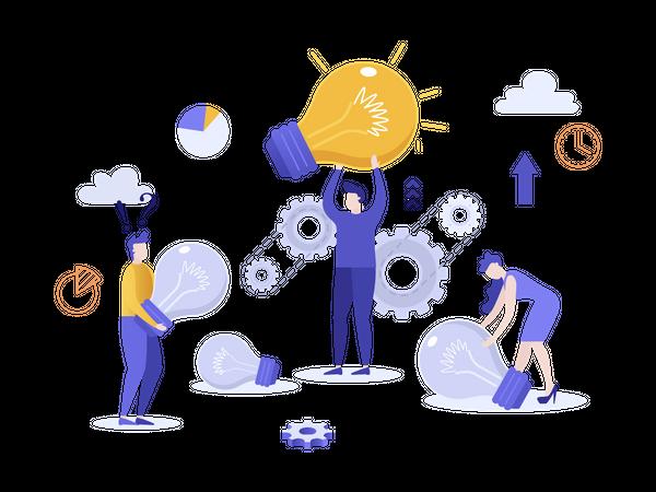 Innovative ideas for business Illustration