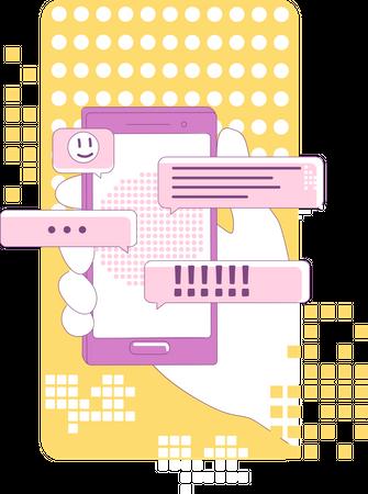 Instant messaging marketing Illustration
