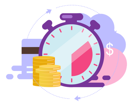 Instant payment Illustration