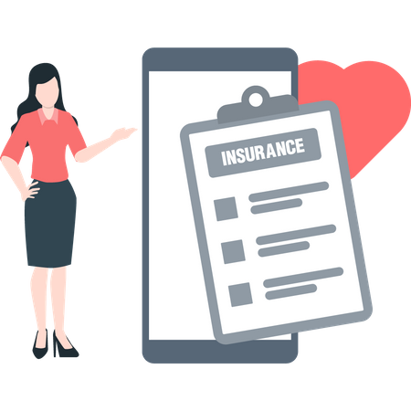 Insurance agent explaining insurance coverage Illustration