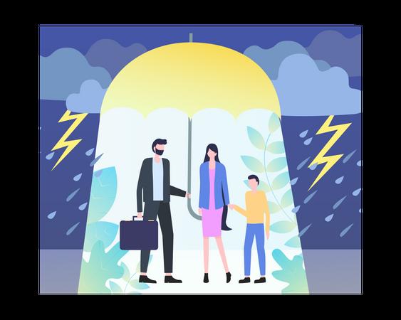 Insurance concept Illustration
