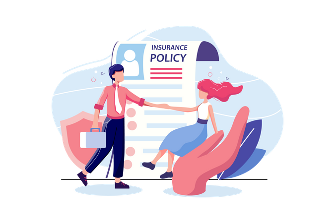 Insurance Policy concept Illustration