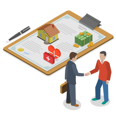 Insurance policy deal Illustration