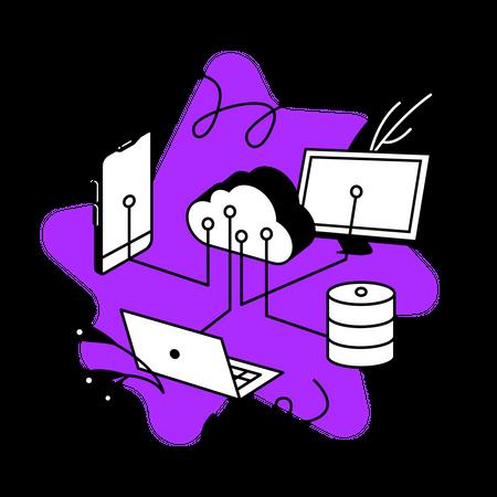 Integration platform Illustration