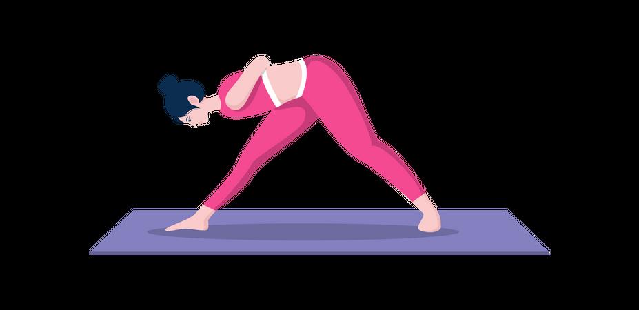 Intense side stretch Illustration