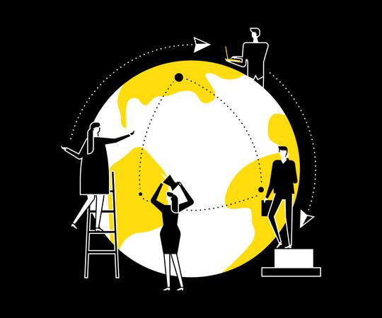 International business Illustration