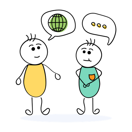 International Business Discussion Illustration