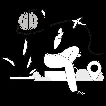 International Business Trip Illustration