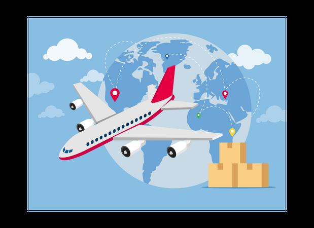 International delivery Illustration