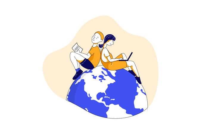 International education Illustration