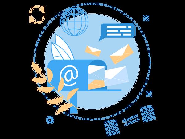 International Mailing Service Illustration