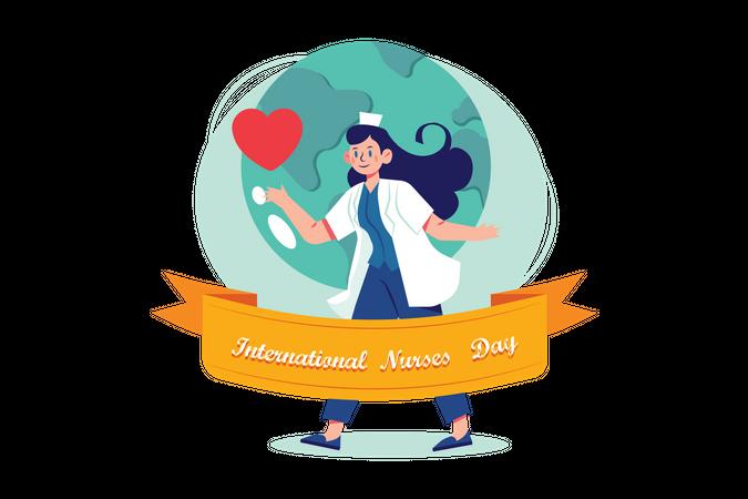 International Nurse Day Illustration