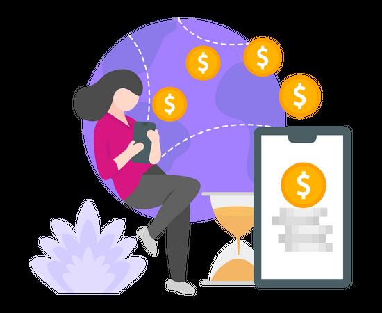 International payment Illustration
