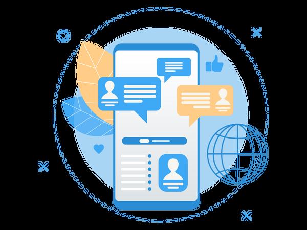 International Profile Details Service Illustration