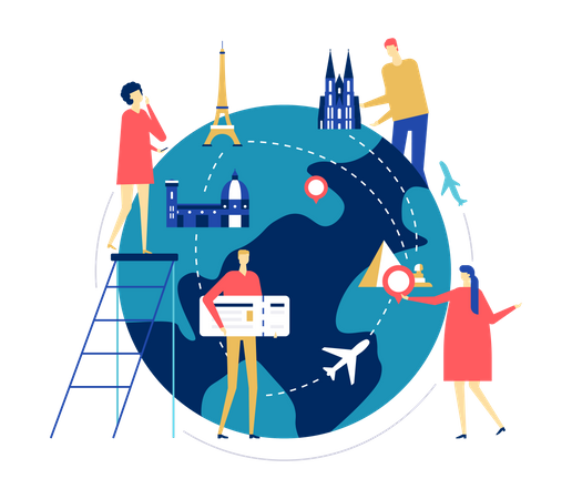 International Travel Illustration