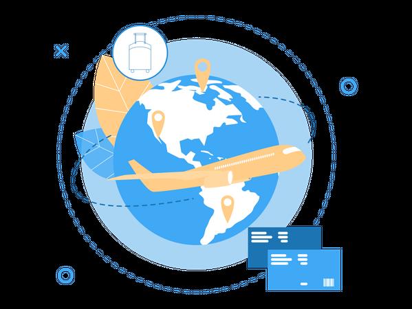 International Travel Booking Illustration