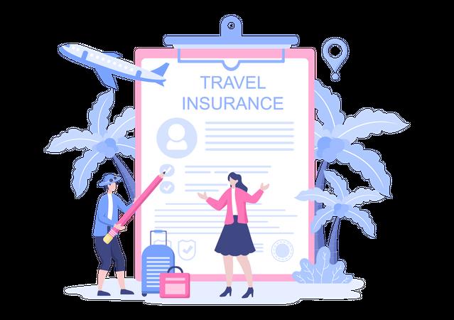International Travel Insurance Illustration