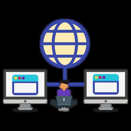 Internet connection Illustration
