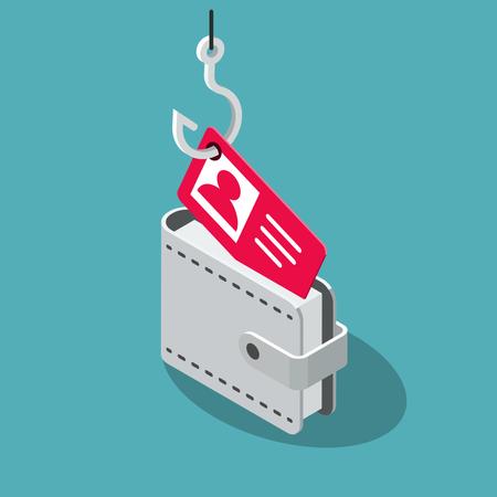Internet identity spoofing attack symbol Illustration