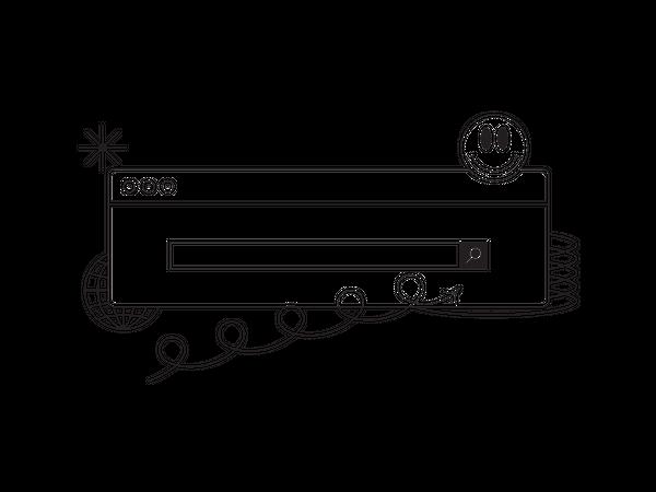 Internet search Illustration