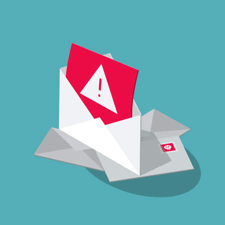 Internet spam attack symbol Illustration