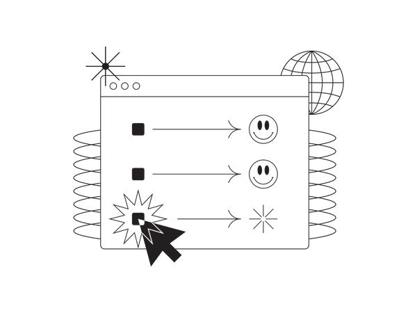Internet task completed and processing Illustration