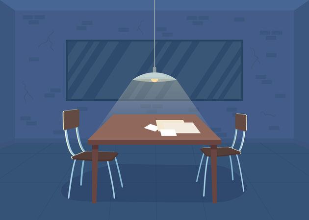 Interrogation room Illustration