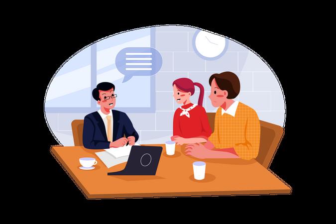Interview process Illustration
