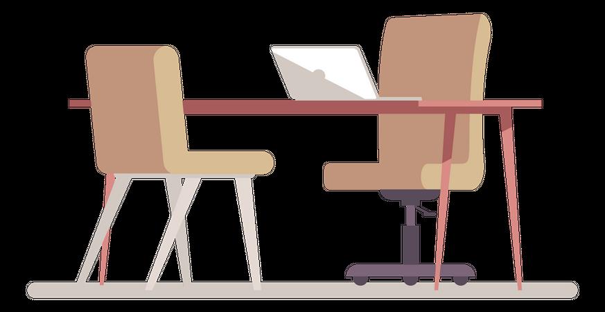 Interview room Illustration