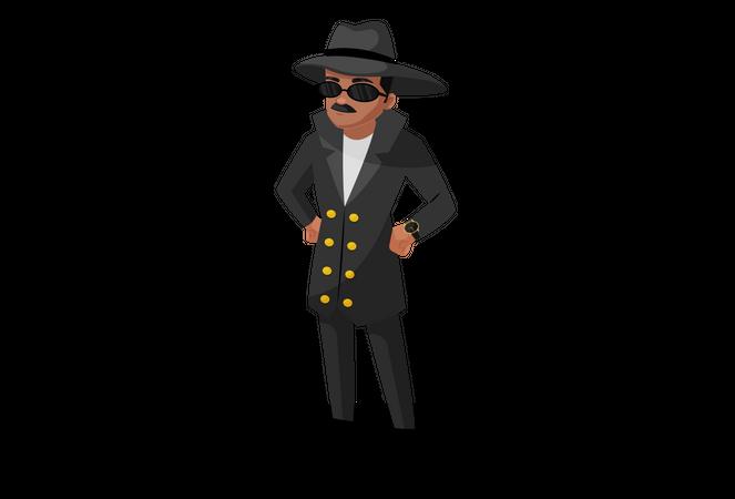 Investigating officer Illustration