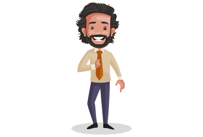 Investment Advisor in good mood Illustration