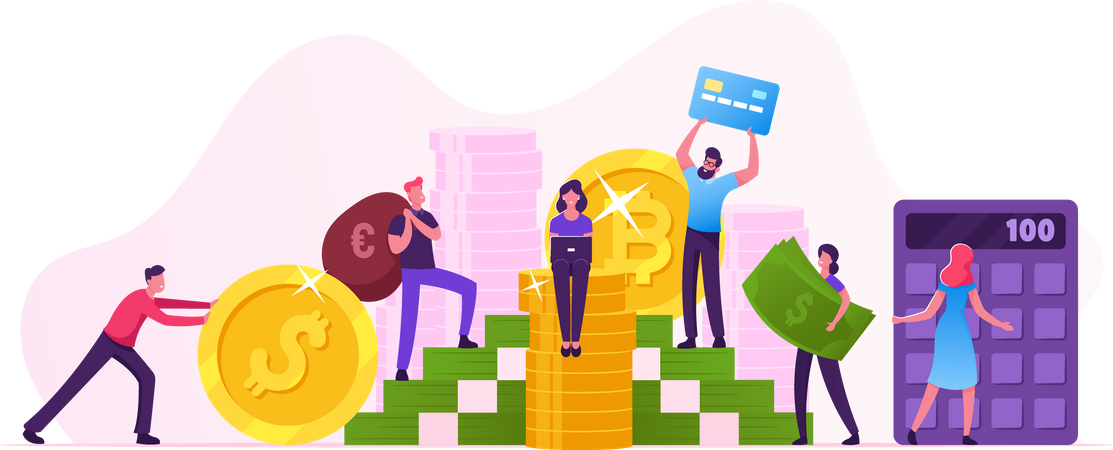 Investment and Finance Growth Business Illustration