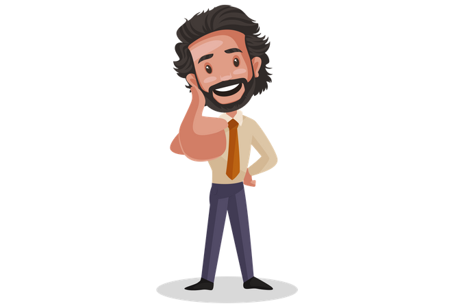 Investment consultant showing thumbs up Illustration