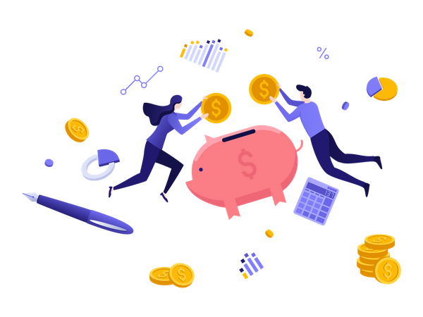 Investment consultation service Illustration