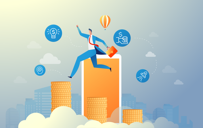 Investment in business Illustration