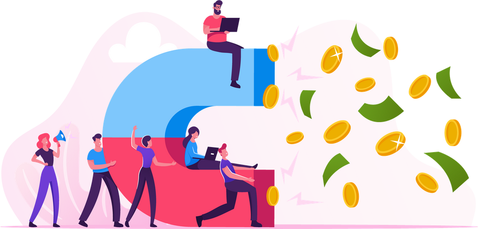 Investment Income Attraction Illustration