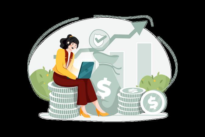 Investment Insurance Illustration