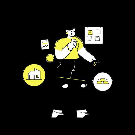 Investment management Illustration