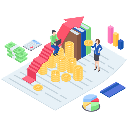 Investment Or Profit Growth Illustration