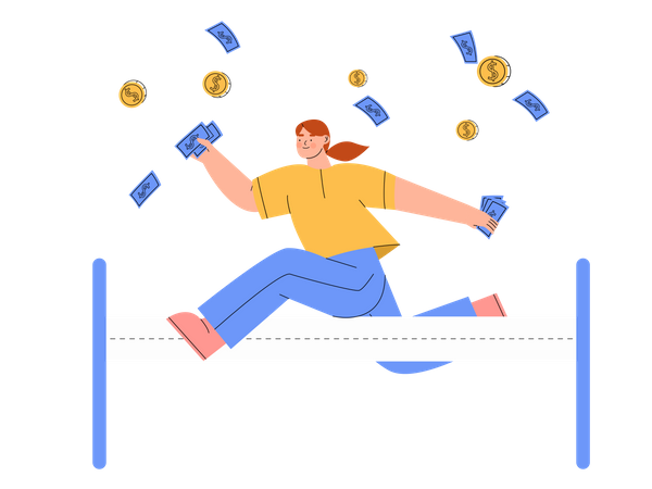 Investor gaining profit Illustration