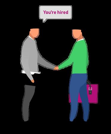 Inviting new employee Illustration