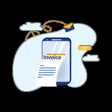 Invoice Bill Illustration