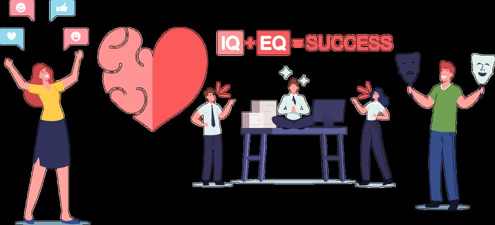 Iq and Eq Illustration