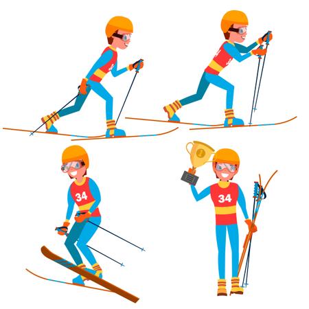 Isolated Flat Cartoon Character Illustration Illustration